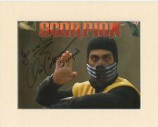 Chris Casamassa Scorpion Mortal Combat Original Signed Mounted Autograph Photo