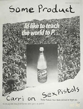 "Sex Pistols - Some Product, Carri On, Uk 16"" x 12"" Advert/Ad 1979"