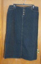 "Ladies ""No Boundaries"" Sz 20 (W40/L36) Blue Denim, Full Lngth Skirt w/Button Fly"