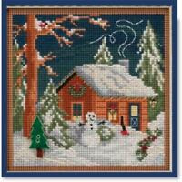 MILL HILL BUTTONS & BEADS Winter Series CHRISTMAS CABIN - MH14-1834
