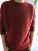 New Men's Crewneck / V-neck Pullovers Sweater 100% Mink Cashmere Sweaters