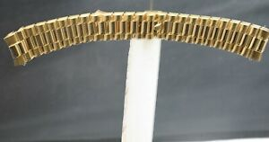 170mm END TO END for Men's 18K SOLID GOLD 20mm HIDDEN CLASP PRESIDENT #8385