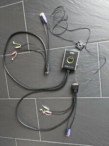 ATEN USB DVI KVM Switch CS682 (für zwei PC an einem Monitor), KVM Switch Button