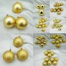 77pcs Assorted Gold Shiny, Matte & Glitter  Shatterproof Christmas Ornament Set