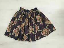 NEXT SKIRT SIZE 8 RUCHED ELASTICATED WAIST COTTON LINED PAISLEY FULL FLIPPY