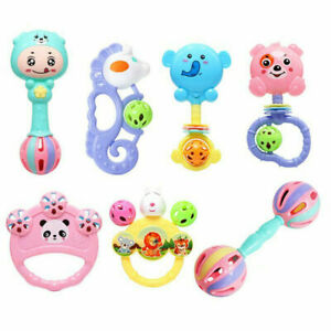 7Pcs Baby Rattle Toys Set Kids Music Sensory Toys Shaker Musical Education Gifts