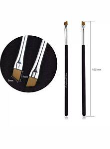 🇬🇧2Pc Professional Elite Angled ❤️Eyebrow Brush ❤️And Concealer BrushUK SELLER