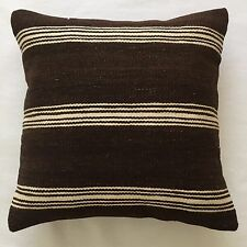 Alt anatolisch Kelim Kissen Oriental 40x40 Old Pillow Cushion Almohada Oreiller