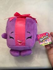 "Shopkins Plush 6"" Miss Pressy Purple Present With Pink Bow Super Soft"