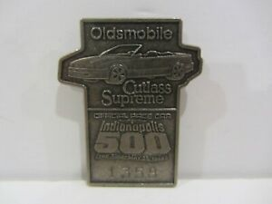 1988 INDIANAPOLIS 500 SILVER BADGE RICK MEARS 3rd WIN CUTLASS SUPREME INDY CAR
