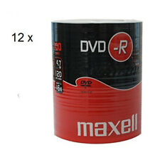 MAXELL DVD-R Blank Recordable Digital Disc DVDR 4.7GB 16x SPEED 120min 100Pk x12