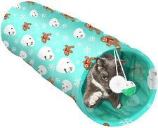 Lepawit Collapsible Cat Kitten Tunnel Toys for Indoor Cats Cat with Plush Ball