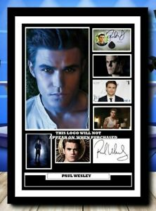 (488) paul wesley vampire diaries signed photograph framed unframed reprint @@@@
