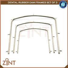 Rubber Dam Frames Restoration Endodontic Laboratory Instruments New CE Set Of 3