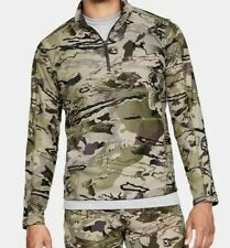 Under Armour Sz Xlmen's Cold Gear 1/4 Zip Camo Fleece L/S Loose Xlarge 1316863