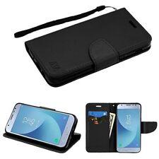 For Samsung GALAXY J3 V Star 2018 Leather Flip Wallet Case Cover Magnet Black