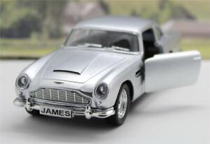 PERSONALISED PLATES Silver Aston Martin DB5  Toy Car Boys Dad Model Gift Present