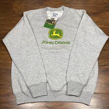 Kids John Deere Sweatshirt Size 14/16 New With Tag Fruit Of The Loom Gray LS