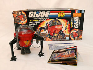 Vintage GI Joe ARAH Cobra POGO Ballistic Battle Ball complete box instructions