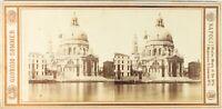 Italia Venezia Chiesa Santa Maria Della Salute Foto Sommer Stereo Albumina c1865
