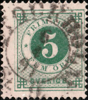 "SUÈDE / SWEDEN / SVERIGE - ""STOCKHOLM  St.9"" (1891) ds on Facit 43 / Mi.32"