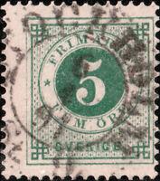 """SUÈDE / SWEDEN / SVERIGE - """"STOCKHOLM  St.9"""" (1891) ds on Facit 43 / Mi.32"""
