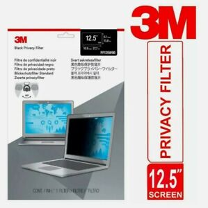 """3M Privacy Filter for 12.5"""" Laptop Widescreen Thin & Touch Sensitive Matte"""
