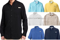 NEW COLUMBIA MEN PFG TAMIAMI II LONG SLEEVE SHIRTS, XS-S-M-L-XL-XXL