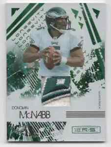 2009 DONRUSS ROOKIES & STARS DONOVAN MCNABB LONGEVITY PATCH #D /50 SP EAGLES