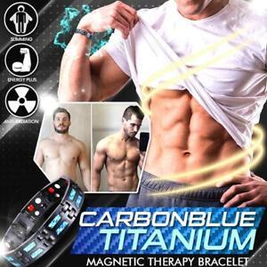 Carbon Blue Titanium Magnetic Therapy Bracelet Original Quality New Hot