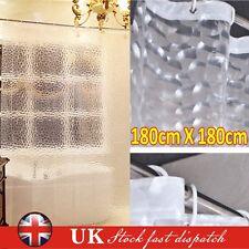 New 3D Shower Curtain Clear Plastic EVA Diamond Cube Thicker PEVA