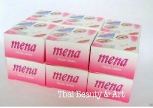 12 x Mena Pink Whitening Acne Dark Spots Blemishes Moisture Aging Facial Cream