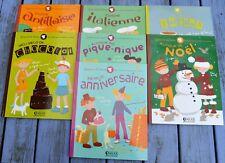 Lot de 7 livres de cuisine pour enfants, Gaspard et Léonie, Ed. Atlas, v. liste