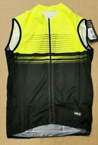 Ale PRR Slide Men's Sleeveless Jersey, Black/Fluro Yellow, Medium. L13954019-03