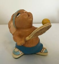 Pendelfin Stonecraft Hand Painted Rabbit Figurine Tennyson - Tennis Blue Shorts