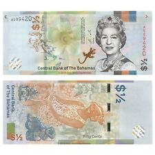 Bahamas 1/2 Dollar 2019 P-New New Design Banknotes UNC