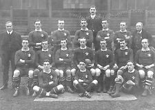 1905 WELSH RUGBY TEAM (v NEW ZEALAND ALL BLACKS) POSTCARD - GREAT WIN FOR WALES