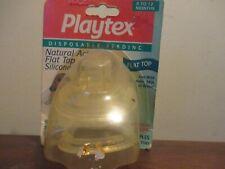 New listing Vintage 1 pack of 2 Playtex Nipples Flat Top Silicone Medium Flow