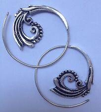 """SILVER Plated piccola spirale """"ONDA"""" Orecchini-Etnica, Boho, Funky, Tribale"""