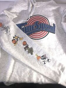 """Space Jam """"TuneSquad"""" Grey Hoodie - Size M (Licensed, 2019)   Great Condition!"""