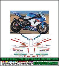 kit adesivi stickers compatibili gsxr 600 750 1000 yoshimura sbk 2012