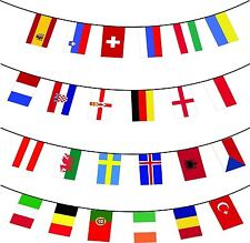 24 Nations Euro Cup Football Bunting Flags Party Decorations Banner 22ft Long