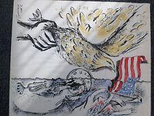 Zamy Steynovitz - Hommage to American Hostages -Original Watercolor-Cert WC-2111