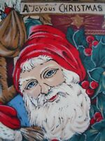 Hasting & Smith A Joyous Christmas Tie Silk Mens Santa Claus Necktie