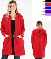 WOMENS PLUS SIZE CARDIGAN SWEATER LONG BODY ASSORTED COLORS  1X  2X  3X