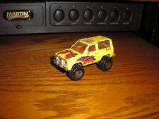 Classic 1:57 Matchbox 4x4 lifted off road 1980's Ford Bronco II Yellow w/ Flames