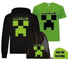 Felpa Hoodie Cappuccio + Maglietta + Sacca Minecraft Game Player Videogame