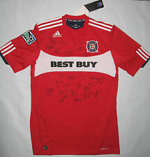 Chicago Fire Signed Adidas Clima Cool Jersey size M NEW