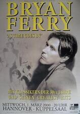 """Bryan Ferry TOUR POSTER/MANIFESTO CONCERTO """"As time goes by Tour 2000"""""""