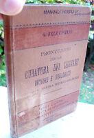 1896 MANUALE HOEPLI SULLA CUBATURA DEI LEGNAMI ROTONDI E SQUADRATI DI BELLUOMINI